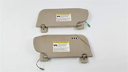 Read About Pair of Sun Visors Illuminated With Garage Door Opener OEM 10 11 12 Lincoln MKT