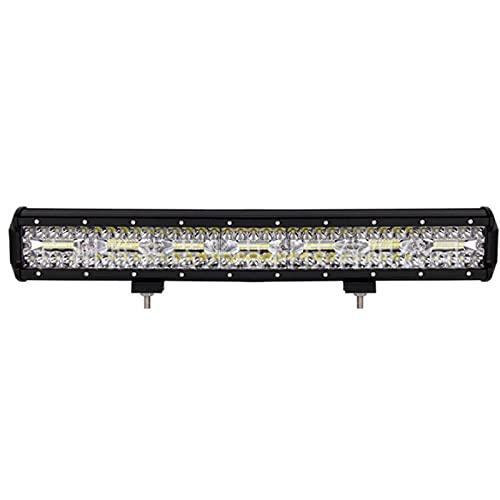HSTG Barra de luz LED, Barra de luz de Trabajo de 23 Pulgadas 420W 10800lm, Triple Fila, súper Luminoso de inundación, cápsula LED, Adecuada para camión de Tractores de automóviles 4x4, etc.