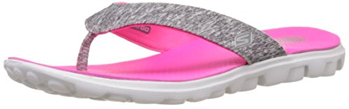 Skechers Damen On the Go Flow-13631 Pantoletten, Grau (Gyhp), 41 EU