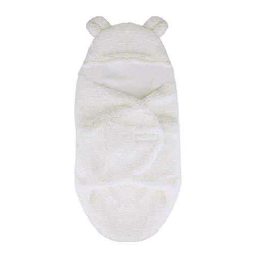 Baby Schlafsack Swaddle Neugeborenes Wickeln Decke Herbst Winter Tragbare Wärmer Schlafsäcke Verdickt Fleece Baumwolle Wickel Einschlagdecke für 3-6 Monate
