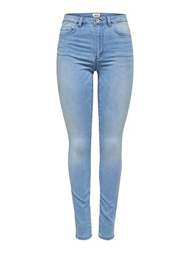 ONLY Damen Jeans onlROYAL HW SK Jeans BB BJ13333 - Skinny Fit - Blau - Light Blue, Größe:L - L 32, Farbe:Light Blue Denim (15169037)