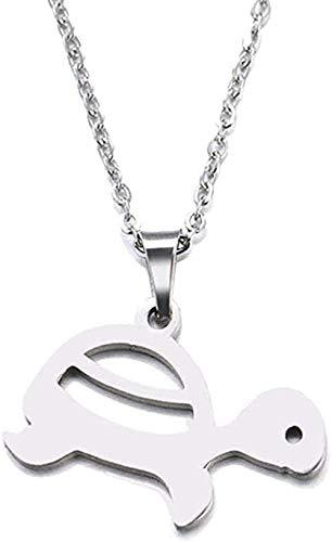AKDLKXTS Collar Collar Acero Inoxidable Colgante Tortuga Tamaño 45Cm