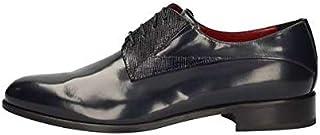 MARINI Zapatos Derby Elegantes Hombre B04 141 Piel Azul Original PE New