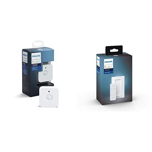 Philips Hue Sensor de Movimiento + Dimmer Switch Interruptor inteligente (Pack de 2)