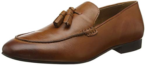 H by Hudson Bolton Leather, Mocassins Homme, Marron Tan 24, 40.5 EU