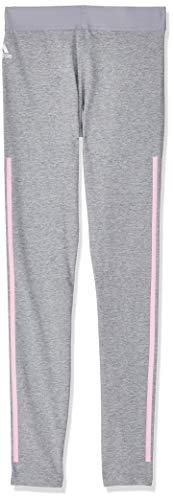 adidas Mädchen Must Haves 3-Streifen Tights, Medium Grey Heather/True Pink, 164