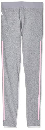adidas Mädchen Must Haves 3-Streifen Tights, Medium Grey Heather/True Pink, 164