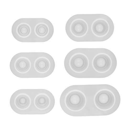 chiwanji 6 BJD Muñeca Ojo de Alumno Pesado Molde de Silicona Base Presión DIY Bjd Eye Materiales