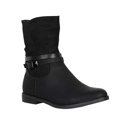 Elara Damen Stiefelette Biker Boots Chunkyrayan 4080 Black-40