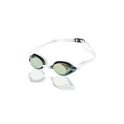 Speedo Vanquisher 2.0 Gafas de natación espejadas – Fabricante discontinuado, Gafas de natación espejadas Vanquisher 2.0 - Fabricante descontinuado, Dorado/Blanco, Una Talla
