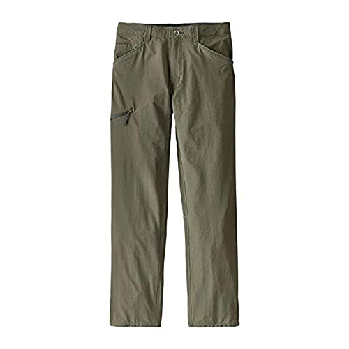 Patagonia 55181 Quandary Pants - Pantaloni Uomo, Verde (industrial green), 32