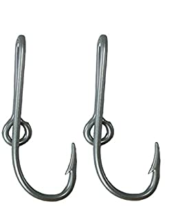 Custom Colored Eagle Claw Silver Hat Fish Hooks for Cap (Set of Two Hat Hook pins) Two Silver Hat Hook Clip