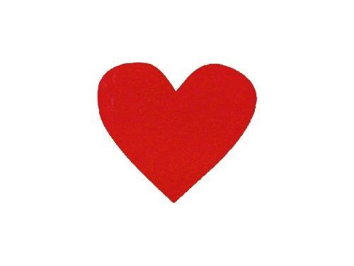 Konfetti Herz rot, 100 Stueck