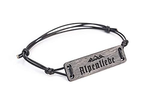 Holz Armband BERGE - mit Gravur ALPENLIEBE - mit Geschenk - Verpackung
