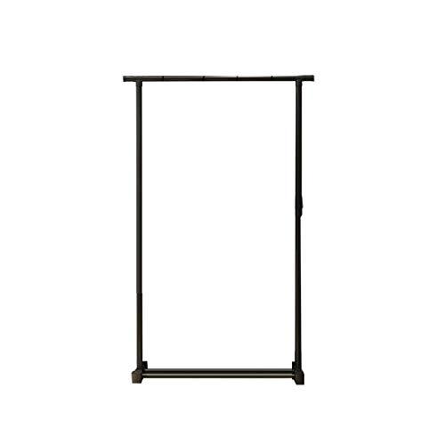 CSQ-Wall Coat Racks Outdoor Clothes Rod, Light Portable Clothes Rail Height Adjustable Black Men Dorm Room Bedroom Coat Stand Clothes Shelves (Color : Black, Size : 15075CM)