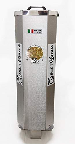 Ristorina Mangiatoia per Cavalli Automatica, Programmabile mod. 250C in Acciaio Inossidabile, Erogazione Cibo su Due Uscite, Alimentazione 12 V.