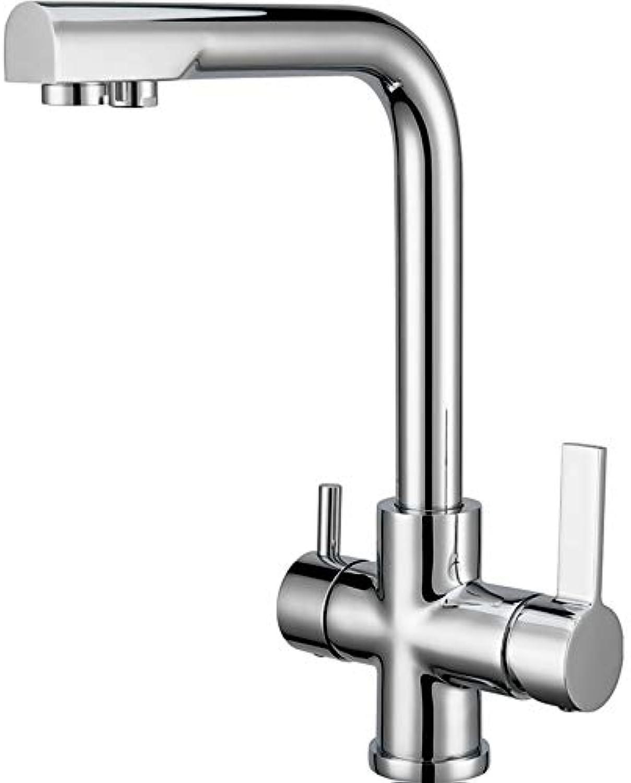 Wasserhahn Bad,360° Drehbar,Hoch Waschtischarmatur Mischbatterie Waschtisch Armatur Für Bad,Zweigriff,Kaltes Und Heies Wasser Vorhanden