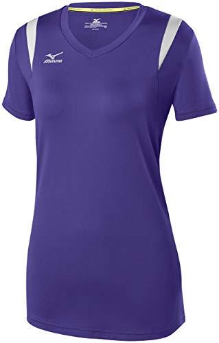 Mizuno Balboa 5.0Short Sleeve Volleyball Trikot lila/Silber