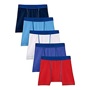 31sp9qDdM8L. SS300  - Fruit of the Loom Varones Toddler Boys 5 Pack Stretch Boxer Brief Calzones Calzoncillo