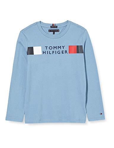 Tommy Hilfiger Jungen MSW Global Stripe Tee L/s Hemd, Vintage Denim, 8