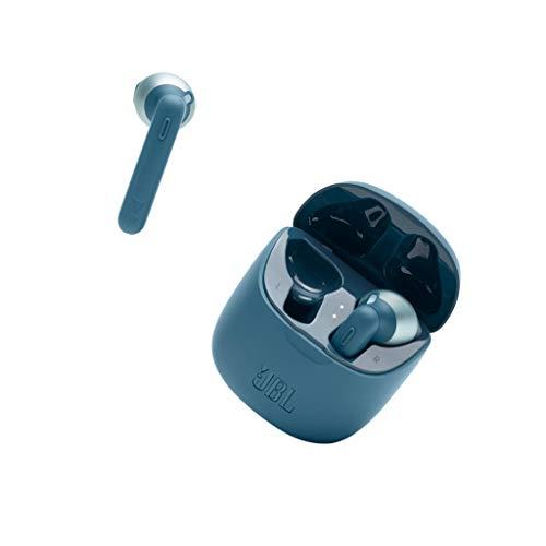JBL Tune 225 TWS Lifestyle Bluetooth Kopfhörer in Blau – Kabellose Sport Ohrhörer für bis zu 5 Stunden Musikgenuss mit nur eine Akku-Ladung – Inkl. Ladecase