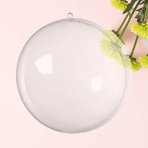 Vosarea Lot de 24 Boules décoratives en Plastique Transparent à Suspendre pour Sapin de Noël 6 x 6 cm
