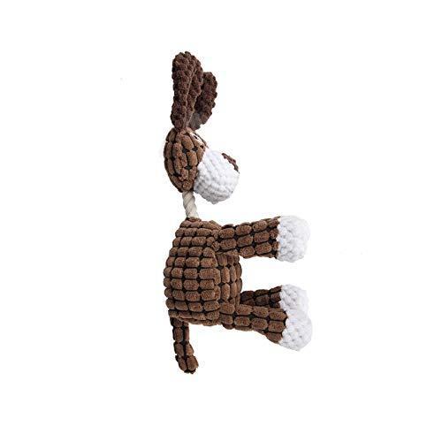 Puzzle-Spielzeug Stofftier-Puzzle-Backenzähne, die gegen beißen-dunkelbraunes interaktives Spielzeug resistent sind