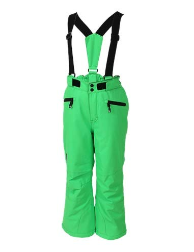 Color Kids Sanglo Pantalon de Ski pour Enfant, Toucan Green, 140 cm