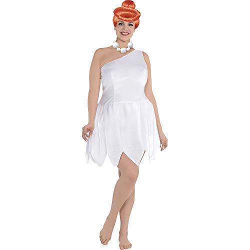 SUIT YOURSELF Wilma Flintstone Halloween Costume for Women, The Flintstones, Plus Size, Includes Dress, Wig and More