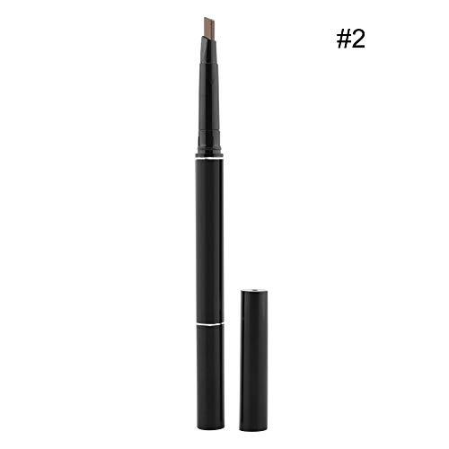 Crayon à sourcils, Crayon à sourcils étanche aux taches avec brosse à sourcils, 2 paquets(#2)