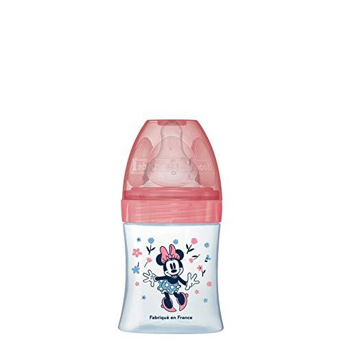Biberón Initiation+ anticólico, 150 ml, caudal 1 Mickey rosa