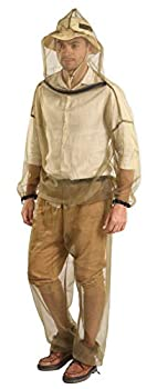 Mosquito Suit - Net Bug Pants & Jacket w/ Hood - Mesh Bug Suit for Outdoor Protection from Bugs Flies Gnats No-See-Ums & Midges - Clothing for Men & Women - w/ Free Carry Pouch