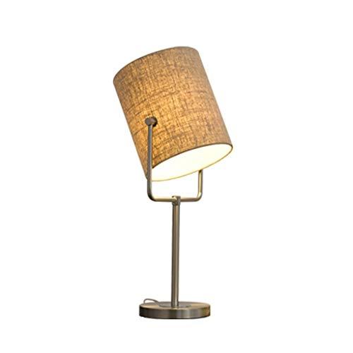 SLEVE Bouton Moderne Minimaliste Linen Texture métal Commutateur Lampe de Table en Tissu Fait Main Nordique Art Chambre Salon Lampe élégante Bureau Lumière (Size : High 54cm)