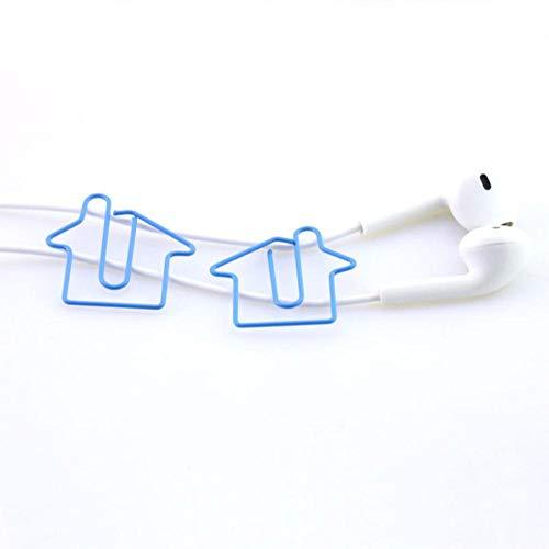 Piero 10 stks klompen huis slipper vorm paperclips kleur grappige bladwijzer kantoor shool briefpapier markering clips, huis