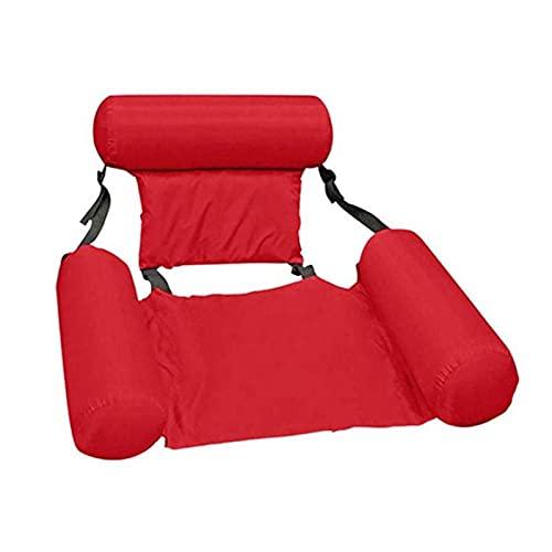 househome Cama flotante con respaldo flotante, tumbona de agua hinchable para entretenimiento acuático, cama flotante plegable con respaldo ajustable, sofá para nadar al aire libre
