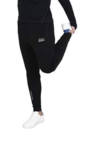 Finz Men's Slim Fit Trackpants (JOGER-NK1-30_Black_30)