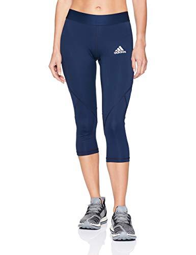 adidas Alphaskin Sport - Pantaloni Aderenti a 3/4 da Donna, Donna, CY9133, Collegiate Navy, M