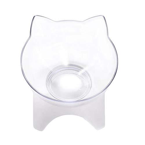 Koomiao Katzenfressnapf Futternäpfe15°Katzenfutter Bowl mit Erhöhtem Stände Katzennapf Gegen Erbrechen Orthopädischer Fressnapf Katze, Katzenschüssel Erhöht, Katzennäpfe Schräg