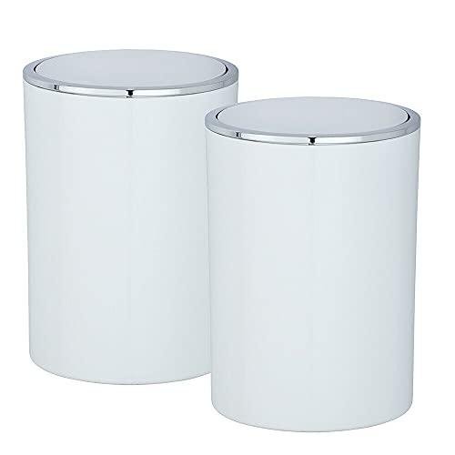 2er Set Schwingdeckeleimer hochwertiger Kunststoff je 5 Liter HUIJK