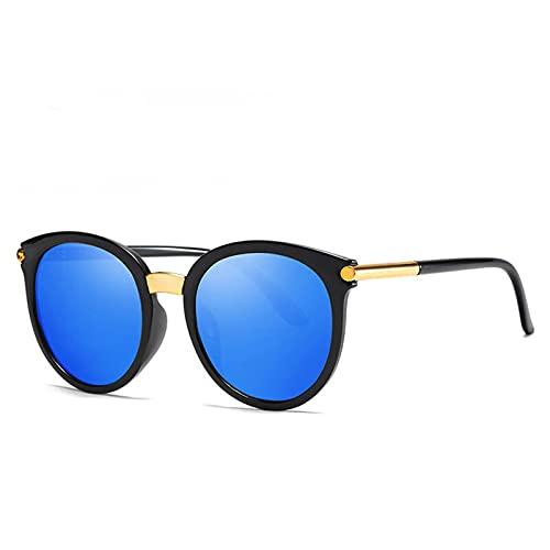 YWSZY Gafas de Sol Gafas de Sol Retro Señoras Melaje de Moda Gafas de Sol Gafas para Mujer UV400 (Lenses Color : C5 Black Blue)