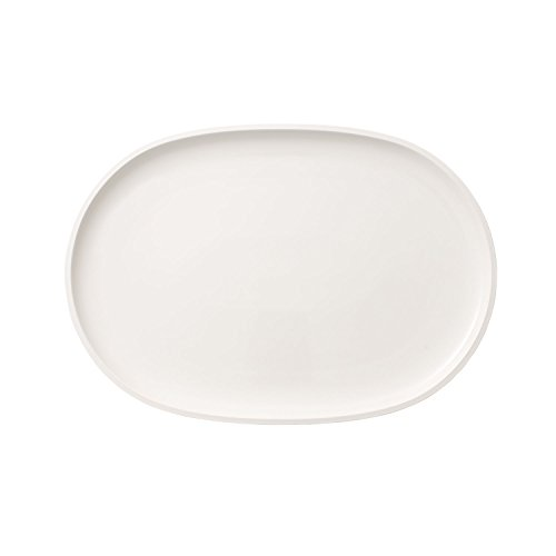 Villeroy & Boch Artesano Original Plato para Pescado Ovalado de 43 x 30 cm, Porcelana, Blanco, 43x30cm