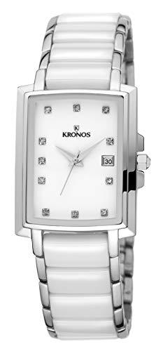 KRONOS - Ceramic White 931.8.32 - Reloj de señora de Cuarzo, Brazalete de cerámica, Color Esfera: Blanca