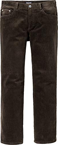Franco Bettoni Herren Stretch-Cordjeans - Freizeithose mit Samt-Optik in Braun, Cordhose mit Stretch, gerader Beinschnitt, Gr. 24 – 60