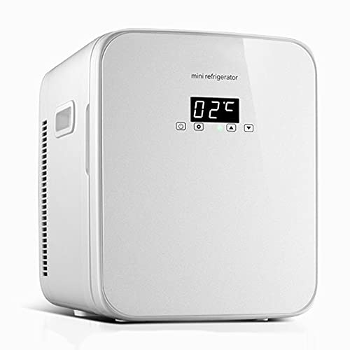 Refrigerador Pequeño PortátilMini Nevera para Enfriar Y Calentar, Mini Refrigerador Portátil para Coche Y Casa, Mini Nevera Portátil para El Skincare Latas De (Color : White)