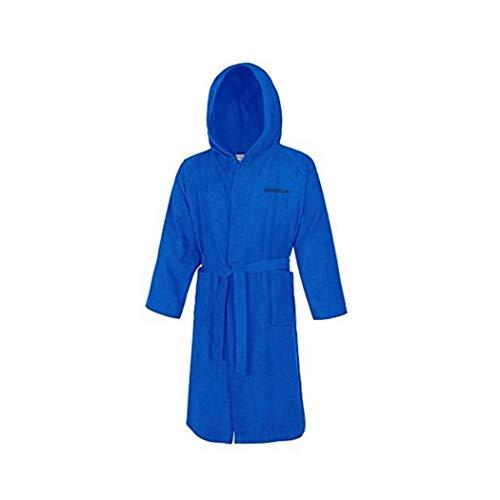 Speedo Unisex-Erwachsene Microterry Bademantel, Blau (Elektrischblau), Gr. L