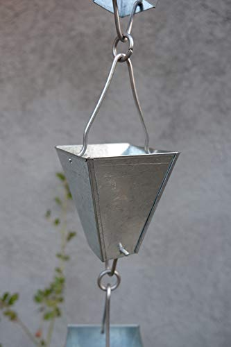 ForHome® Kette für Regenrinne aus Aluminium – Gleitfähigkeit 3,5 / 5 – komplettes Kettenset – (11)