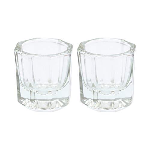Minkissy 2 piezas de uñas de cristal acrílico sin tapa polvo líquido...