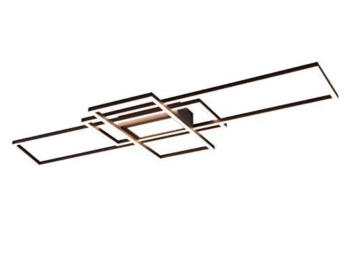 Trio Leuchten LED Deckenleuchte IRVINE mit Fernbedienung 60W 6500 lm 3000-6500 Kelvin Anthrazit 620010442