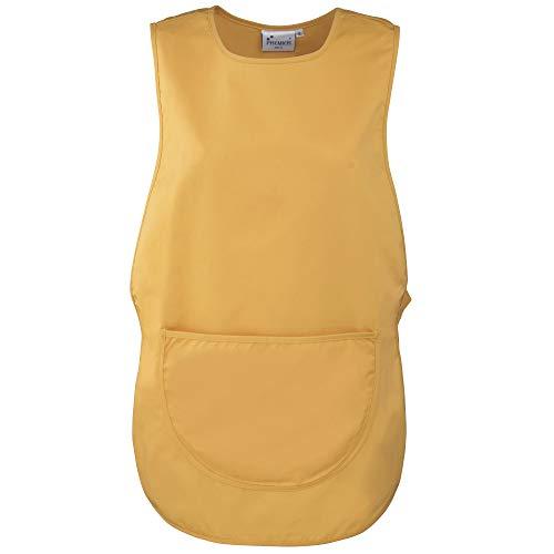 Premier Damen Arbeitsschürze mit Tasche (2 Stück/Packung) (3XLarge) (Sonnenblumengelb)