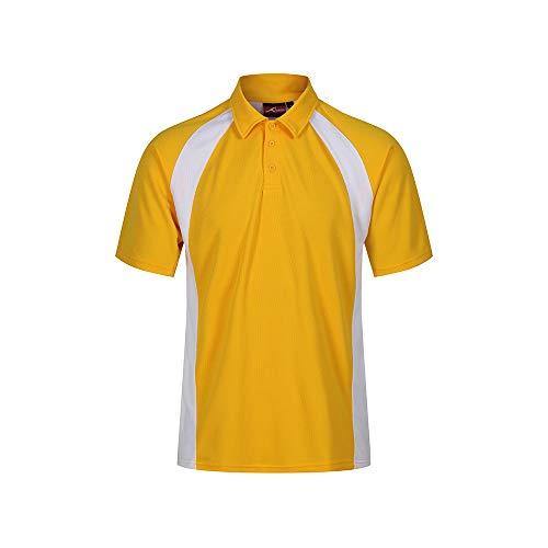 Trutex EPB-YWH-XS AKOA Standard Fit Polo - Casco integral (talla XS), color amarillo y blanco